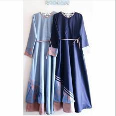 Arsy Dress/Gamis Muslim Kombinasi Batik/Maxi Mix Batik/Dress Panjang Murah/Baju Murah/Gamis Murah