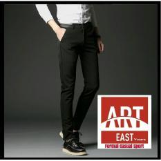 Arteast Yours Celana Kerja Formal Pria - Model Slimfit - Hitam - Twist Tebal - Hitam