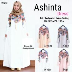 Ashinta Dress Warna White Jasmine Diskon