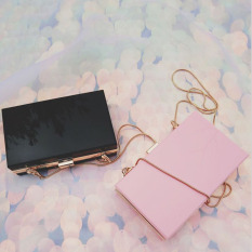 Tas Kotak Cokelat Wanita Sederhana dan Elegan (Merah muda)