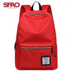 Dapatkan Segera Tas Ransel Produk Asli Rak Konter Khusus Tas Korea Fashion Style Siswa Sekolah Menengah Merah