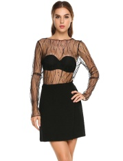 Astar Hot Sale Women Casual O Neck Long Sleeve S*xy Clubwear Mesh Sheer See Through Blouse Tops Intl Not Specified Diskon