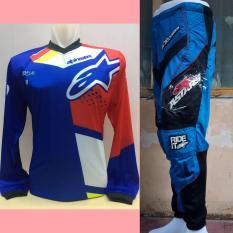 Astars Jersey Celana Setelan Trail Cross Motocross (biru2)