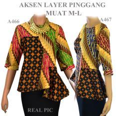 Spesifikasi Atasan Batik Blouse Batik Wanita Sogan A467 Lengkap Dengan Harga