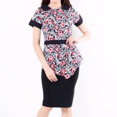 Spesifikasi Baju Batik Wanita Kerah Baby Red K001 Terbaru