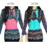 Atasan Batik Tunik Blus Batik Blouse Cardigan Motif Songket La154 Promo Beli 1 Gratis 1