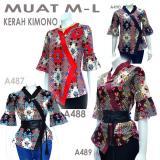 Harga Atasan Blouse Batik Kimono Stretch A487A488A489A490 Di Indonesia