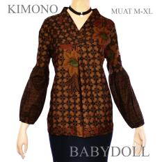 Harga Atasan Blouse Batik Sogan Lengan Panjang Balon A451 Satu Set
