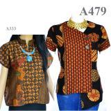 Toko Atasan Blouse Batik Sogan Lengan Pendek La333 Online
