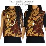 Beli Atasan Blouse Batik Sogan Lengan Pendek La391 Di Indonesia