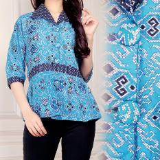 Jual Atasan Blouse Kemeja Abaya Kebaya Wanita Jumbo Shirt Malina Online Di Banten
