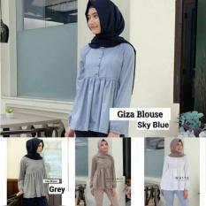 Ulasan Tentang Atasan Busui Baju Menyusui Baju Putih Hijab Murah Giza Blouse