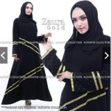 Harga Gamis Abaya Zaura Gold Lengkap