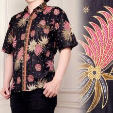 Spesifikasi Atasan Kemeja Batik Pria Jumbo Shirt Rony Merah Dan Harga