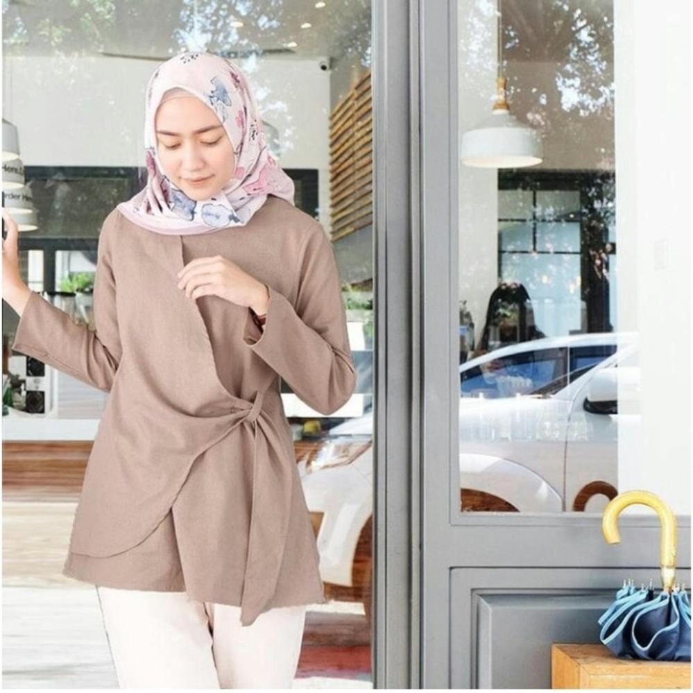 HARGA PROMO Baju Atasan Wanita Tunik Baju Muslim Blus Muslim Story ... cb57059f68