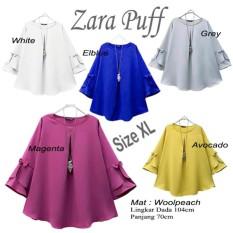 Atasan Wanita / Zahra Puff Blouse / Tunik Baju Muslim Blus Muslim