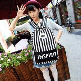 Review Toko Atdiva Tas Ransel Kpop Stripe Black And White Infinite Online