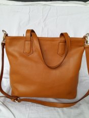 Kualitas Atha Tote Bag Leather Tan Tas Bahu Kulit Wanita Tan Tali Panjang Atha