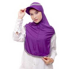 Attiqahijab Long Runner (Instant, Sport) Purple List Grey