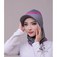 Attiqahijab Short Runner (Instant, Sport) Grey List Purple