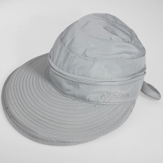 Audew Dilepas Wanita Golf Musim Panas Anti Sinar UV Lebar Visor Simpul Pita Di Sekeliling Pantai Topi Pantai Topi Abu-abu Muda-Intl