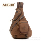 Diskon Augur Men Chest Back Pack Bag Satchel Single Shoulder Bag Fashion Canvas Backpack Man Rucksack Knapack Bolsas Male Rugzakken Intl Tiongkok