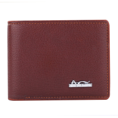 Augustine Maxima Grain Leather Wallet - Brown