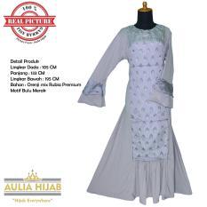 Aulia Hijab - Gamis Mayra Dress Bahan Orenji mix Rubia Premium/Gamis Pesta/Gamis Cantik/Gamis Santai/Gamis Kuliah/Gamis Rubia/Gamis RUbiah/Gamis Orenji/Gamis Murah/Gamis Real Picture/Gamis Rubia Premium/Gamis Orenji Premium