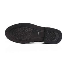 Autoleader Pria Usaha Formal Dress Buatan Kulit Sepatu Slip-On Loafers (Intl)