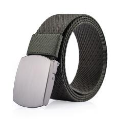 Otomatis Belt Buckle Pemuda Leisure Korea Pria dan Wanita untuk Korea Shengdelong Pria Kain Kanvas Belt Belt-Intl