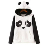 Beli Autumn 2016 Korean Winter Cute Zipper Panda Plush Batwing Sleeve Female Students Outwear Hoodies Plus Size Intl Cicilan