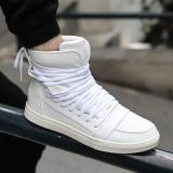 Spek Musim Gugur Dan Musim Dingin Korea Versi High Untuk Membantu Sepatu Kepribadian Red Tide Shoes Youth Papan Olahraga Hip Hop Sepatu Kasual Pria Intl