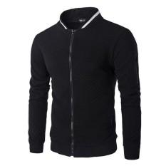 Musim Gugur Dan Musim Dingin Baru Casual Zipper Jaket Mantel Hoodie Modis Olahraga Hitam Intl Promo Beli 1 Gratis 1
