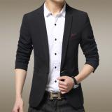 Spesifikasi Musim Gugur Perempuan Kecil Setelan Bisnis Pria Kasual Suit Jaket Tipis Panjang Single Breasted Lengan Hitam Murah