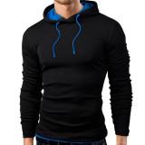 Harga Pria Musim Gugur Sweatshirt 2016 Fashion Berkerudung Olahraga Padat Ramping Cocok Hoodie Shirt Ukuran Better Pullover Baju Olahraga Hitam Biru Internasional Oem Original