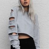 Jual Musim Gugur Pullover Zanzea Wanita Hoodie O Leher Lengan Panjang Atasan Kasual Melubangi Tanaman Longgar Sweatshirts Diskon Besar Besaran Intl Murah