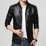 Jual Musim Semi Musim Gugur Baru Fashion Pria Kulit Jaket Pemuda Pria Zipper Kasual Mantel Jaket Intl Di Bawah Harga