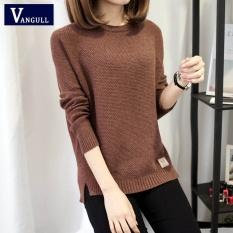 Jual Musim Gugur Sweater 2017 Winter Women Fashion Seksi O Leher Kasual Wanita Sweater And Pullover Hangat Lengan Panjang Rajutan Sweater Brown Murah