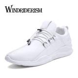 Review Toko Musim Gugur Baru Fashion Sepatu Kasual Pria Bernapas Olahraga Menjalankan Sepatu Putih Intl