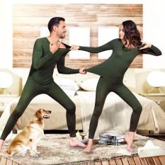 Musim Gugur Pakaian Hangat Set Tipis Wanita Beberapa Underwear Bodysuits Tidur Colth-Intl