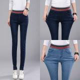 Beli Musim Gugur Musim Dingin Elastis Tinggi Pinggang Wanita Denim Jeans Stretch Slim Fit Pensil Celana Celana Panjang Biru Muda Intl Online Murah