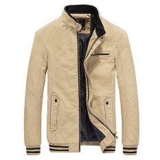 Jual Beli Musim Gugur Musim Dingin Gaya Korea Pembom Jaket Pria Mantel Jaket Jaket Bisbol Khaki Baru Tiongkok