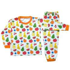 Avocado / Setelan Baju Tidur Piyama Anak Laki -laki Lengan Panjang PA13-002