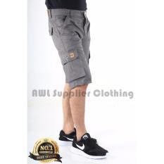 AWL Celana Pendek Cargo [Abu-abu] Short Pants Slim