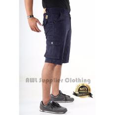AWL Celana Pendek Cargo [Biru Navy] Short Pants Slim
