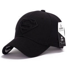 AXY Hot new sun hat male ladies couple Superman baseball cap fashion golf hat(Black) - intl