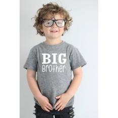 AXY Musim Panas Anak T-shirt Anak Laki-laki And Girl With Huruf Yang Sama Sederhana Cetak Lengan Pendek-Intl