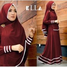 Ayako Fashion Baju Muslim Syari Lola - (Maroon)