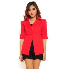 Jual Ayako Fashion Blazer Reisha Merah Ayako Fashion