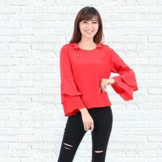 Harga Ayako Fashion Blouse Blus Wanita Lengan Panjang Mirana 9002 Red Dki Jakarta